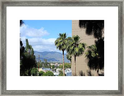Patio View Framed Print by Ann Marie Donahue