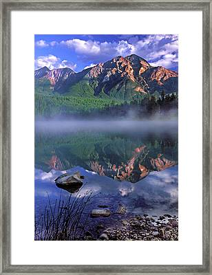 Patricia Lake Banff Canada Framed Print by Dave Mills