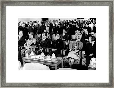 Patricia Nixon Laughs As She Talks Framed Print by Everett