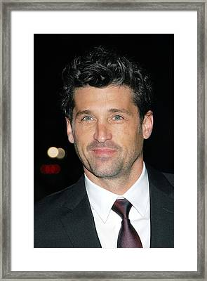 Patrick Dempsey At Arrivals For Avon Framed Print by Everett