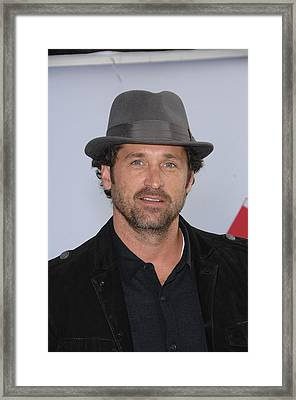 Patrick Dempsey At Arrivals For World Framed Print by Everett