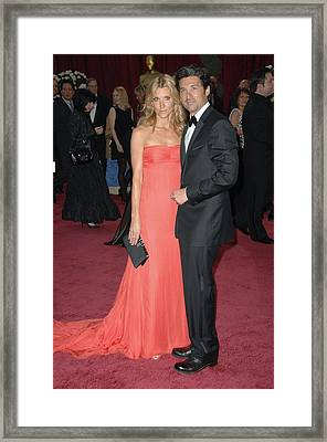 Patrick Dempsey, Wife At Arrivals Framed Print by Everett