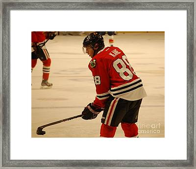 Patrick Kane - Chicago Blackhawks Framed Print by Melissa Goodrich
