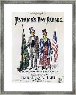 Patricks Day: Music, 1873 Framed Print