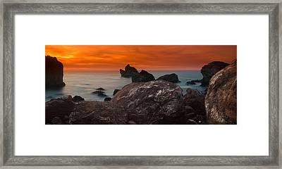 Patrick's Point Dusk Panorama Framed Print by Greg Nyquist