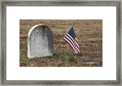Patriot Framed Print by Denise Pohl