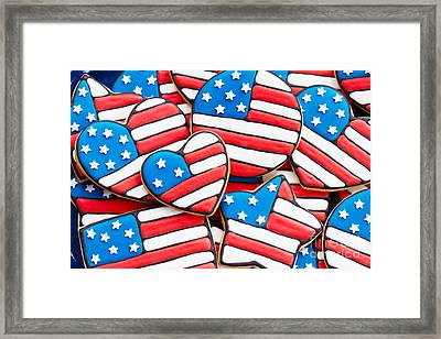 Patriotic Cookies Framed Print