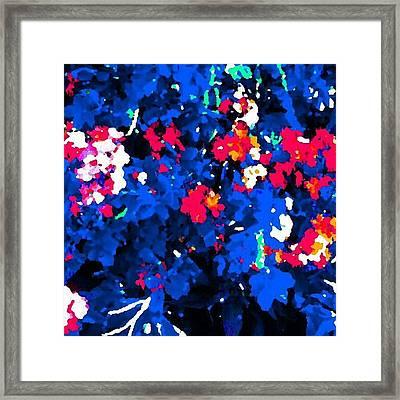 Patriotic Floral Impression Framed Print