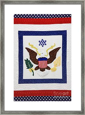 Patriotic Quilt Framed Print by Jeremy Woodhouse