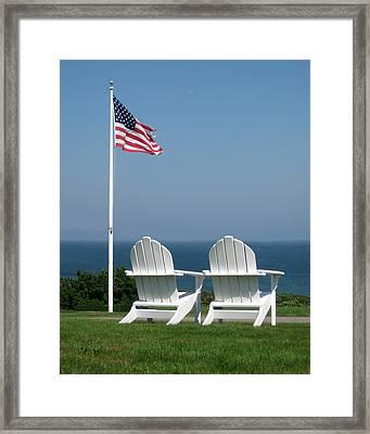Patriotic Serenity Framed Print by Rose Pasquarelli
