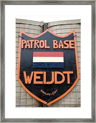 Patrol Base Weijdt Framed Print by Unknown