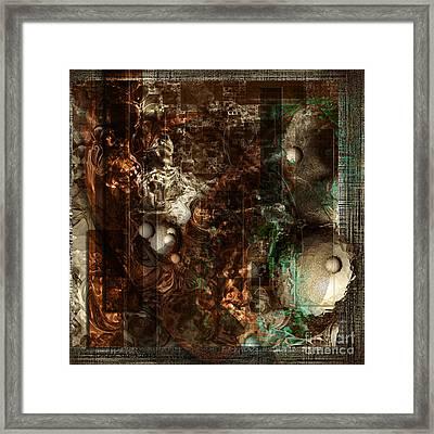 Pattern Down - Brown Framed Print by Monroe Snook