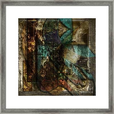 Pattern Down Framed Print by Monroe Snook
