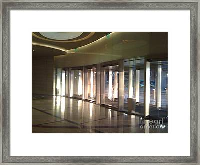 Patterned Reflections Framed Print