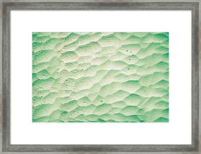 Patterned Stone Wall Framed Print by Tom Gowanlock
