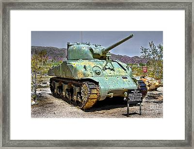 Patton M4 Sherman Framed Print by Jason Abando