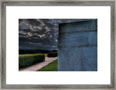 Paul Cret Gettysburg Monument Framed Print by Andres Leon