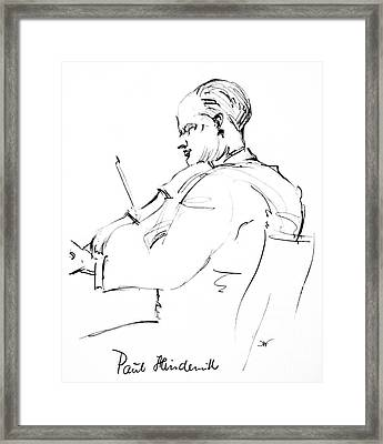 Paul Hindemith (1895-1963) Framed Print by Granger