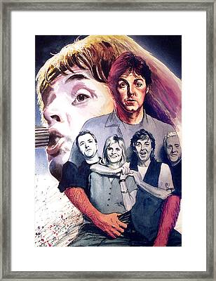 Paul Mccartney And Wings Framed Print by Ken Meyer