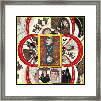 Framed Print featuring the mixed media Paul Mccartney Beatles  by Ray Tapajna