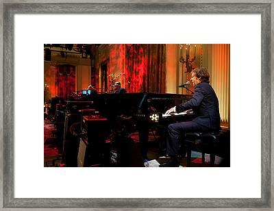 Paul Mccartney Performs Framed Print by Everett