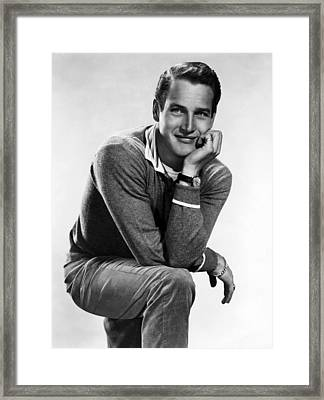 Paul Newman, Ca. 1950s Framed Print