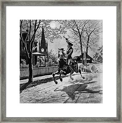 Paul Revere, Midnight Ride, April 18th Framed Print by Photo Researchers