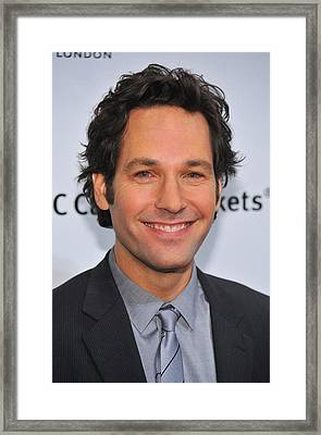 Paul Rudd At Arrivals For Ifps 20th Framed Print