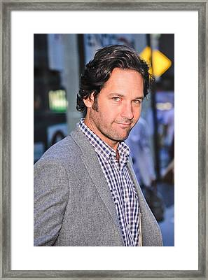Paul Rudd, Leaves The Today Show Taping Framed Print