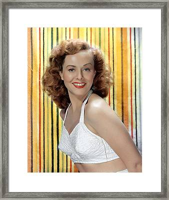 Paulette Goddard, 1940s Framed Print by Everett