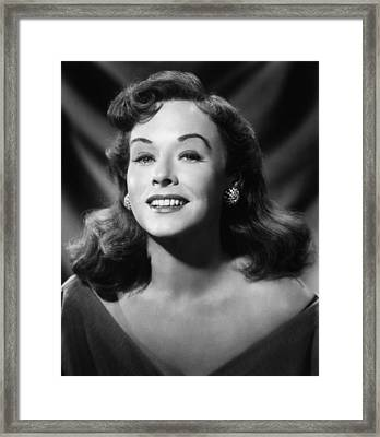 Paulette Goddard, Ca. 1953 Framed Print by Everett