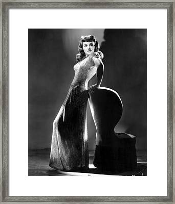 Paulette Goddard In Typically Classy Framed Print by Everett