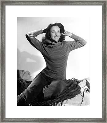Paulette Goddard Publicity Pose Framed Print
