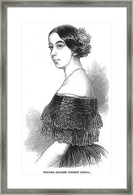 Pauline Viardot-garcia Framed Print
