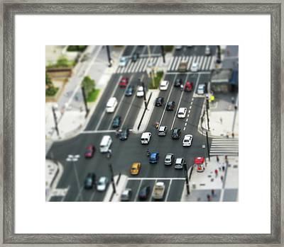 Paulista Tilt Shift Framed Print by Kassá