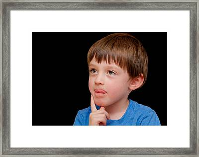 Pause For Thought Framed Print by Tom Gowanlock
