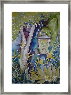 Pausegarden Lantern Framed Print by Pat Katz