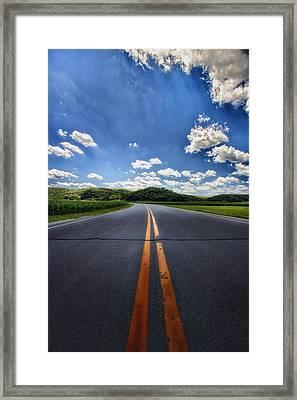 Pavement Approach Framed Print by Bill Tiepelman