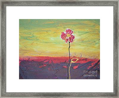 Paw Print Flower Framed Print by Barbara Tibbets