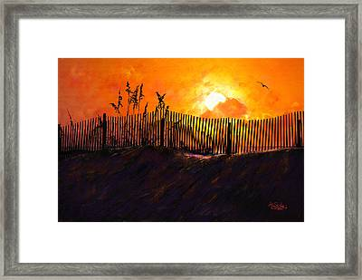 Pawleys Island Sunrise Framed Print