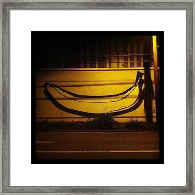 #pdx #banana #boozin #art #fills #voids Framed Print