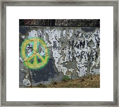 Peace 2012 #1 Framed Print by Todd Sherlock