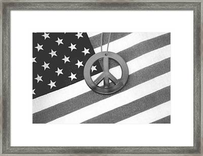 Peace And Patriotism Framed Print