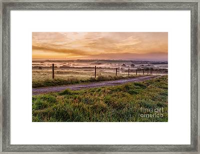peace and quiet in the English coutryside Framed Print