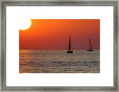 Peace And Tranquility Framed Print by Frozen in Time Fine Art Photography