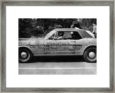 Peace Car Framed Print by Three Lions