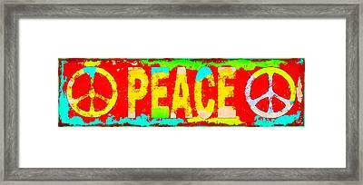 Peace Framed Print by David G Paul