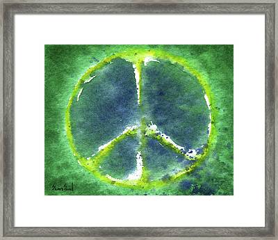 Peace Day 2011 Framed Print