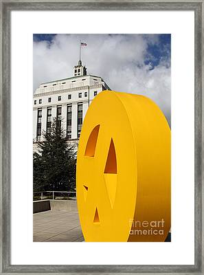 Peace From The Oakland Museum To The Supreme Court Of California . County Of Alameda . 7d13423 Framed Print by Wingsdomain Art and Photography