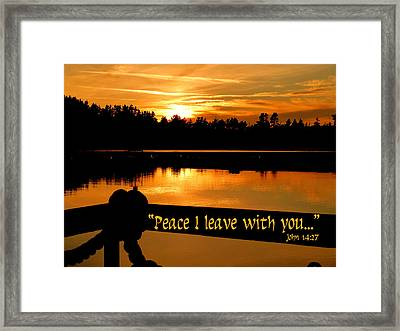 Peace I Leave With You Framed Print by Cindy Wright